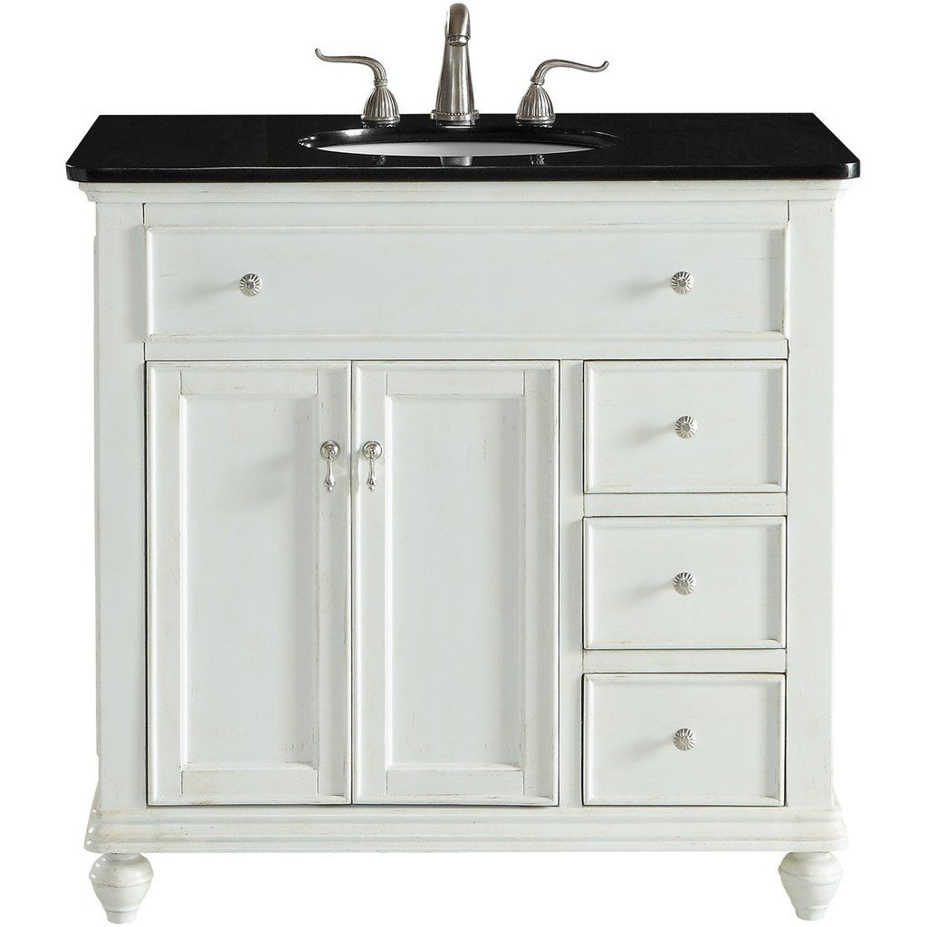 Otto 36 X 35 3 Drawer 2 Door Vanity Cabinet Antique White Finish Vf12336aw Single Bathroom Vanity Bathroom Vanity Elegant Lighting