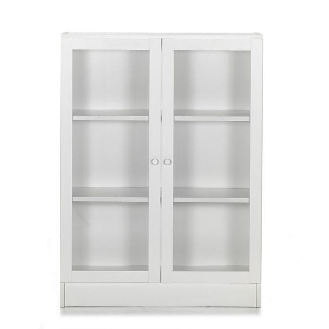 bibliotheque avec portes vitrees
