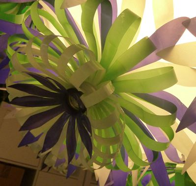 flower made out of plastic bottles