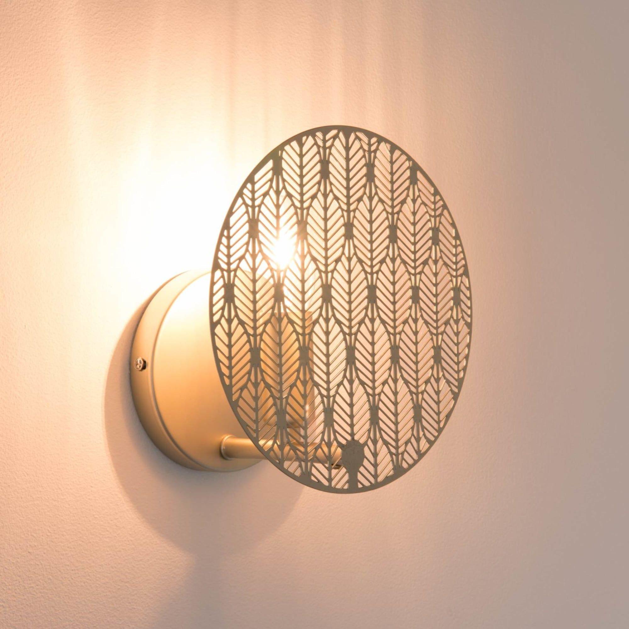 Wohnzimmer Farbe Gold: Wandleuchte Aus Metall, Goldfarben