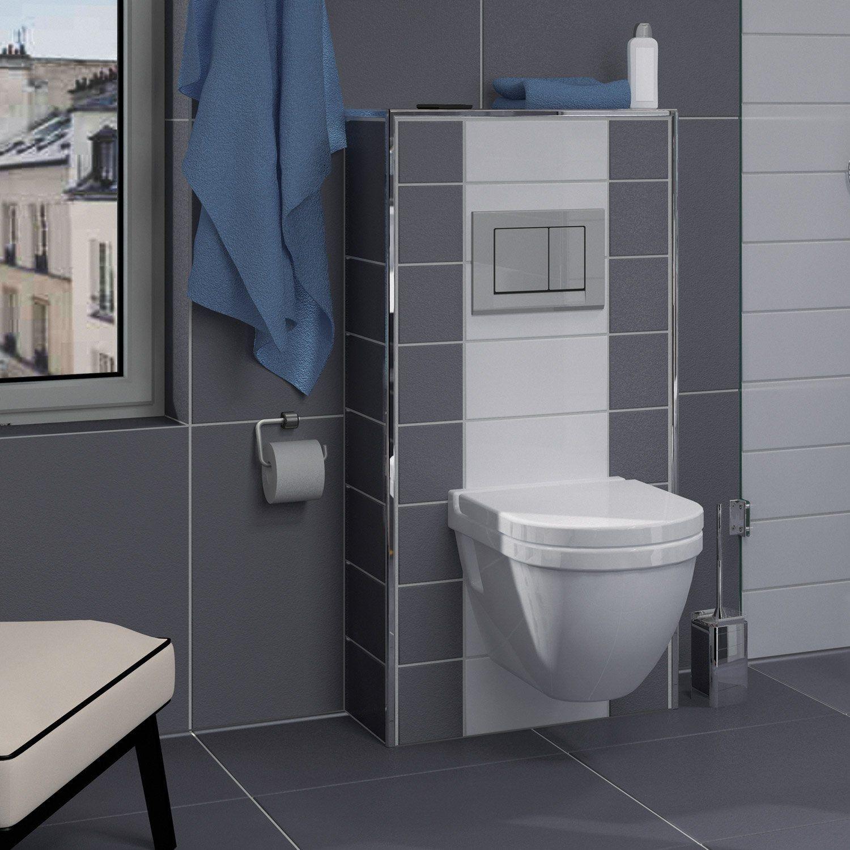 Coffrage WC suspendu l.60xH.1250xP.30 cm, LUX ELEMENTS Habillage bati-support | Meuble wc ...