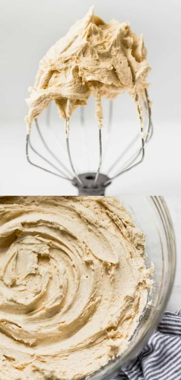Easy Peanut Butter Frosting This easy Creamy Peanut Butter Frosting recipe is peanut butter dessert goals. It's perfect for topping chocolate cake, brownies, chocolate cupcakes, banana cake, cookies, or any other dessert you can dream up. It's so smooth and is great for piping. Make it for any occasion! American Buttercream recipe from @whattheforkblog |  |