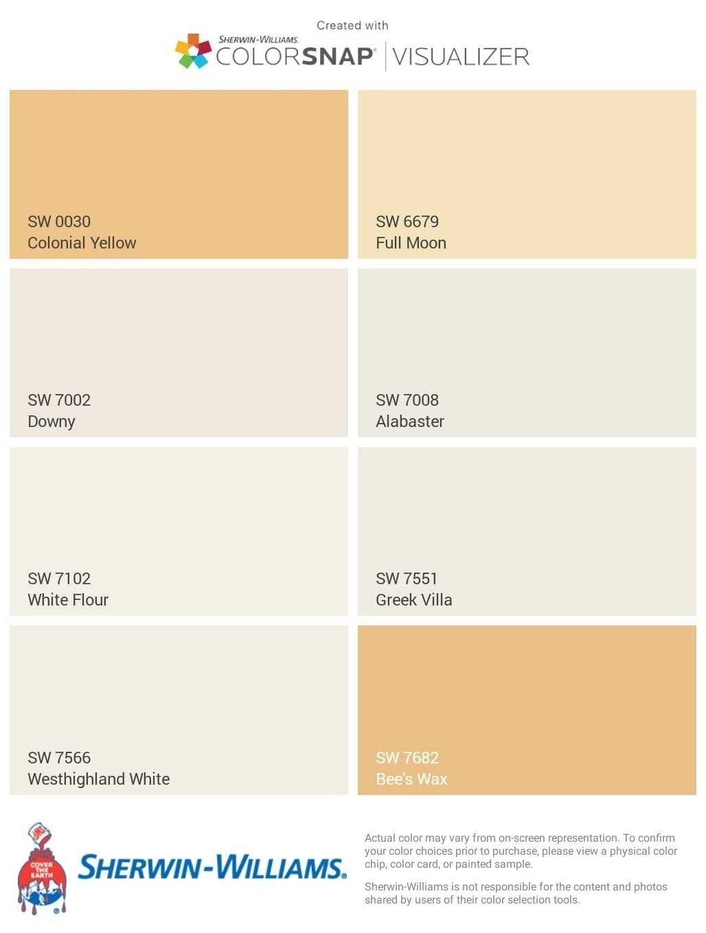Sherwin Williams Yellow Undertone White Creamy White And Soft