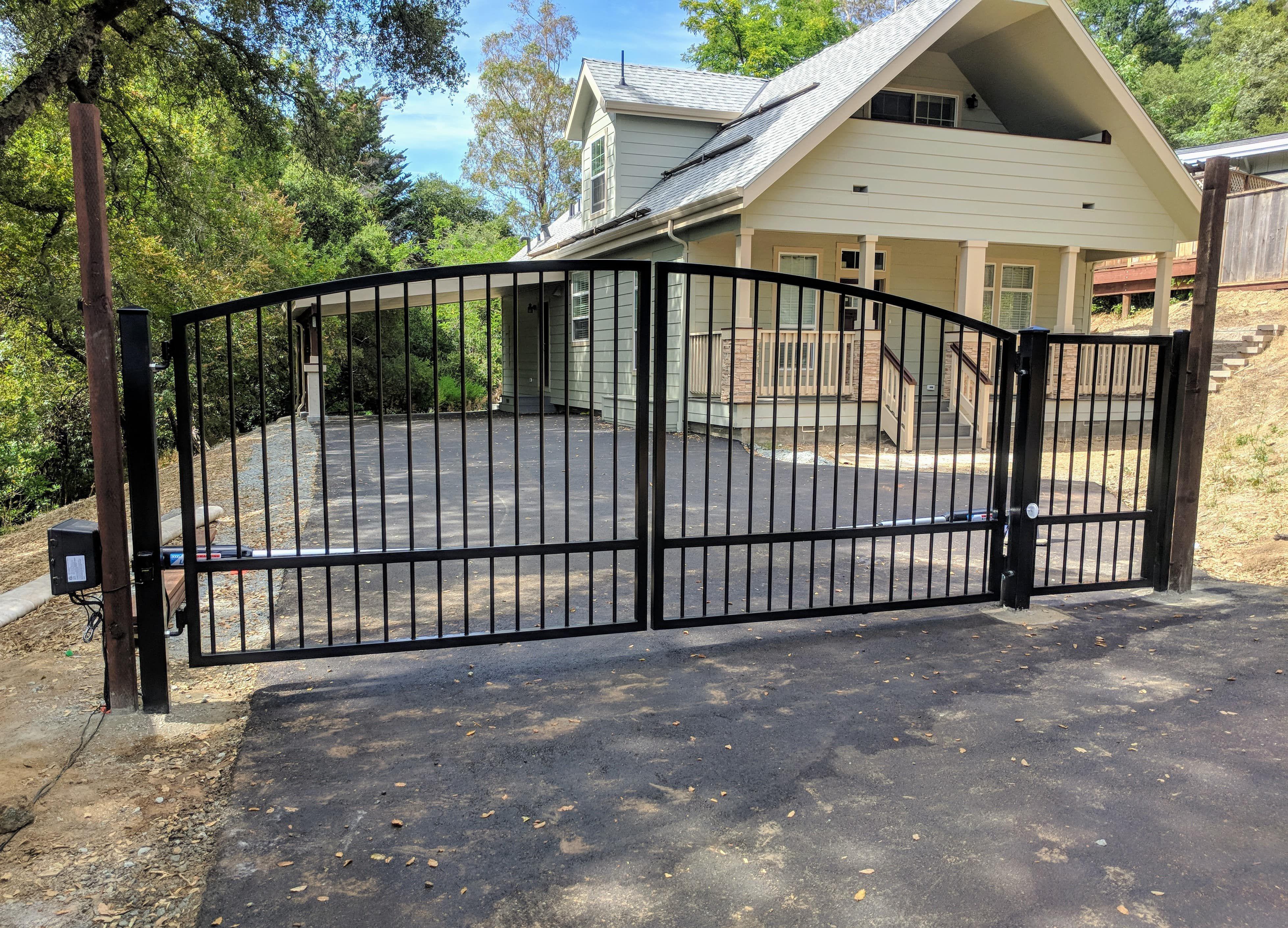 Standardgates Com Wrought Iron Driveway Gates Wood Gates Driveway Driveway Gate