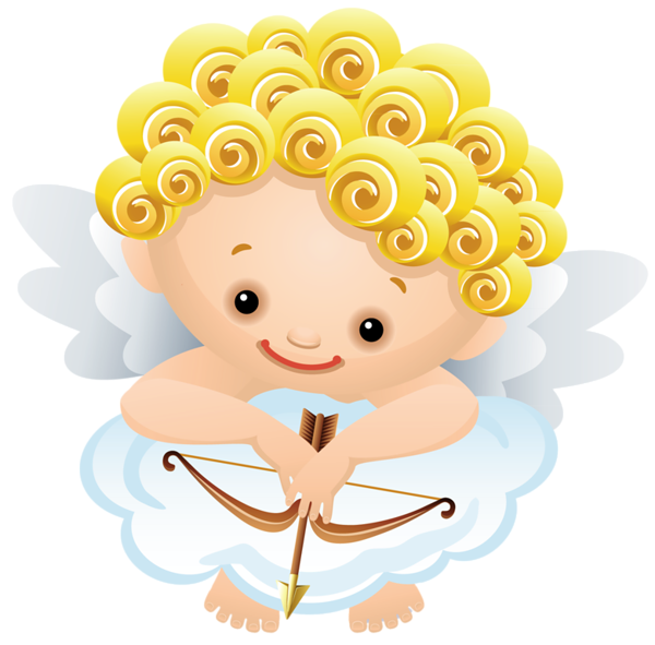 Cartoon Angel With Bow Png Clipart Angel Baby Art Free Clip Art Clip Art