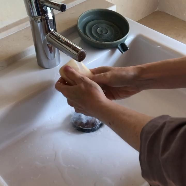 Handmade, self-draining soapdishes...see handwashing in action! #instapotter #soapdish #ceramics #functionalpottery #etsyseller #washyourhands #keepitclean #handwashing #cleanhands #handcare #stayhomestaysafe #functionalceramics #wheelthrown #instapottery #pottersofinstagram #instaceramics