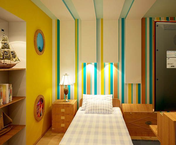 Ideas for Kids Rooms, Yellow Color for Happy Kids Rooms Decor ...