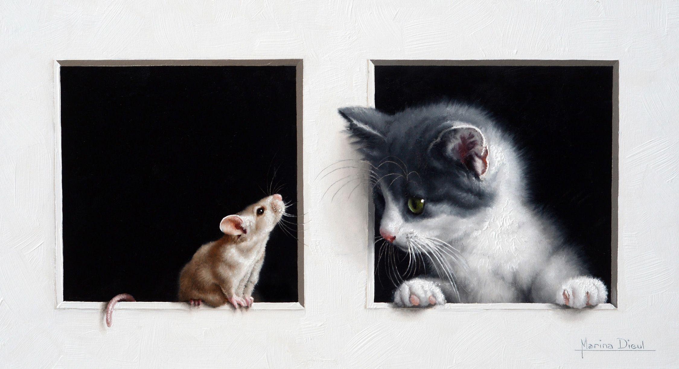 открытки кошка и крыса этот