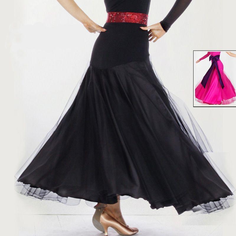 The new ballroom skirt Modern dance game skirt big skirt 2 color