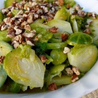 Brussels Sprouts Salad with Maple Mustard Dressing