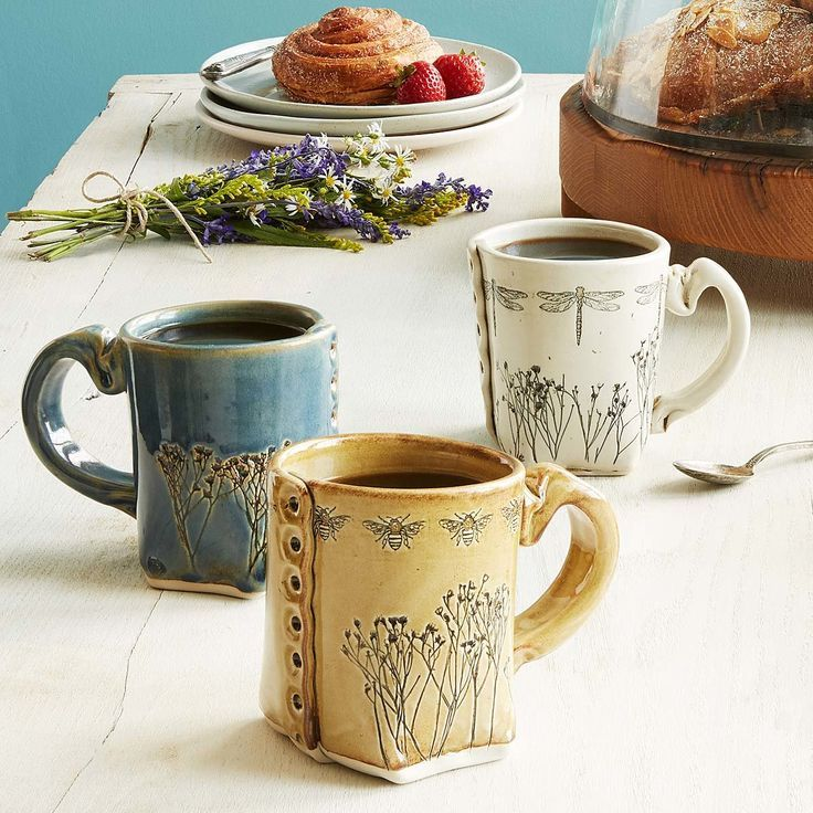 Pressed Wildflower Mugs | nature gifts, unique mug, handmade mug #teamugs