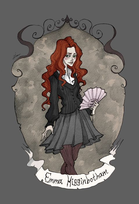 Emma Higginbotham from The Heart Thief. Not fan art but part of a commissioned series by Iren Horrors at deviantart.com. 2/8