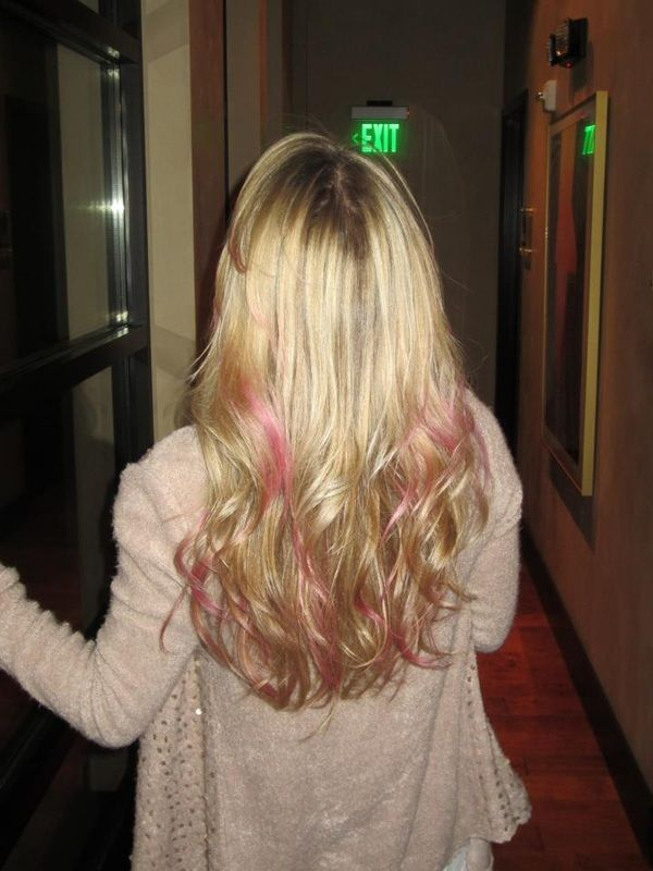 Pink Low Lights Lovely Hair Pinterest Low Lights And Hair - Hairstyle for color run