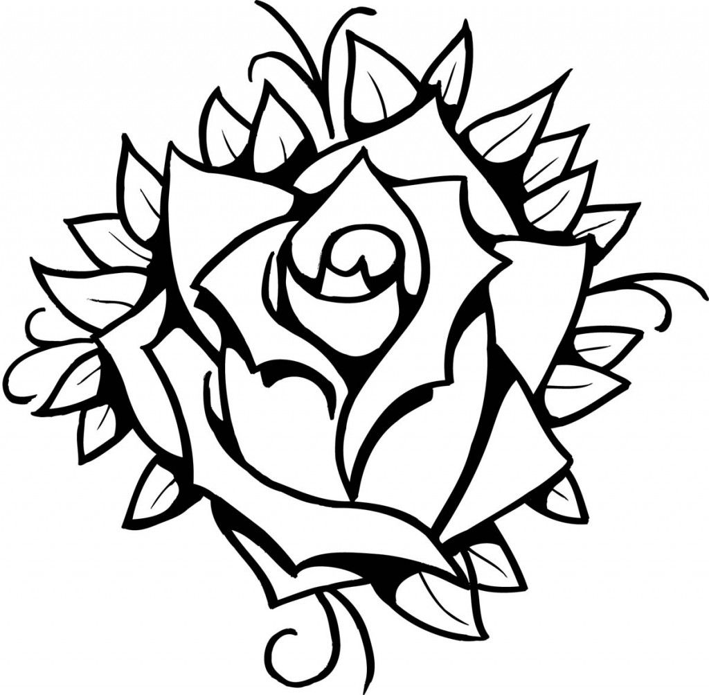 rose art coloring pages - photo#19