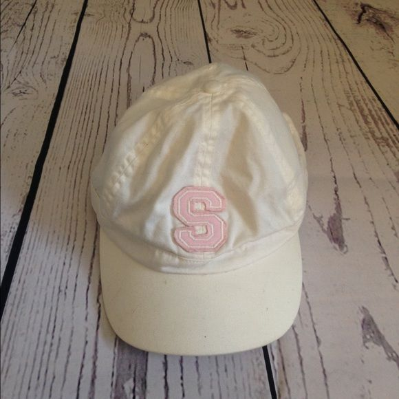 White pink letter baseball cap  Never used Accessories Hats