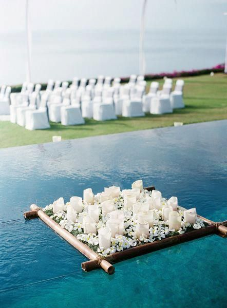 Pool Reception Decor Floating Candles Bits N Pieces Pinterest Floating Candles Wedding