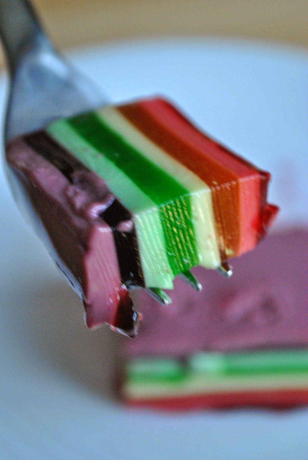 Layered Jello Dessert With Sour Cream Layered Jello Sour Cream Desserts Jello With Sour Cream Recipe