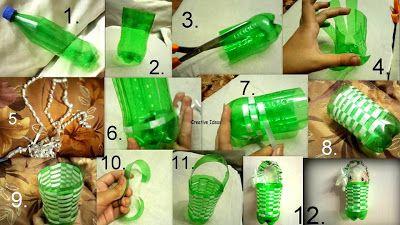 Kreativiti Kitar Semula Botol Plastik Botol Plastik Daur Ulang Kreatif
