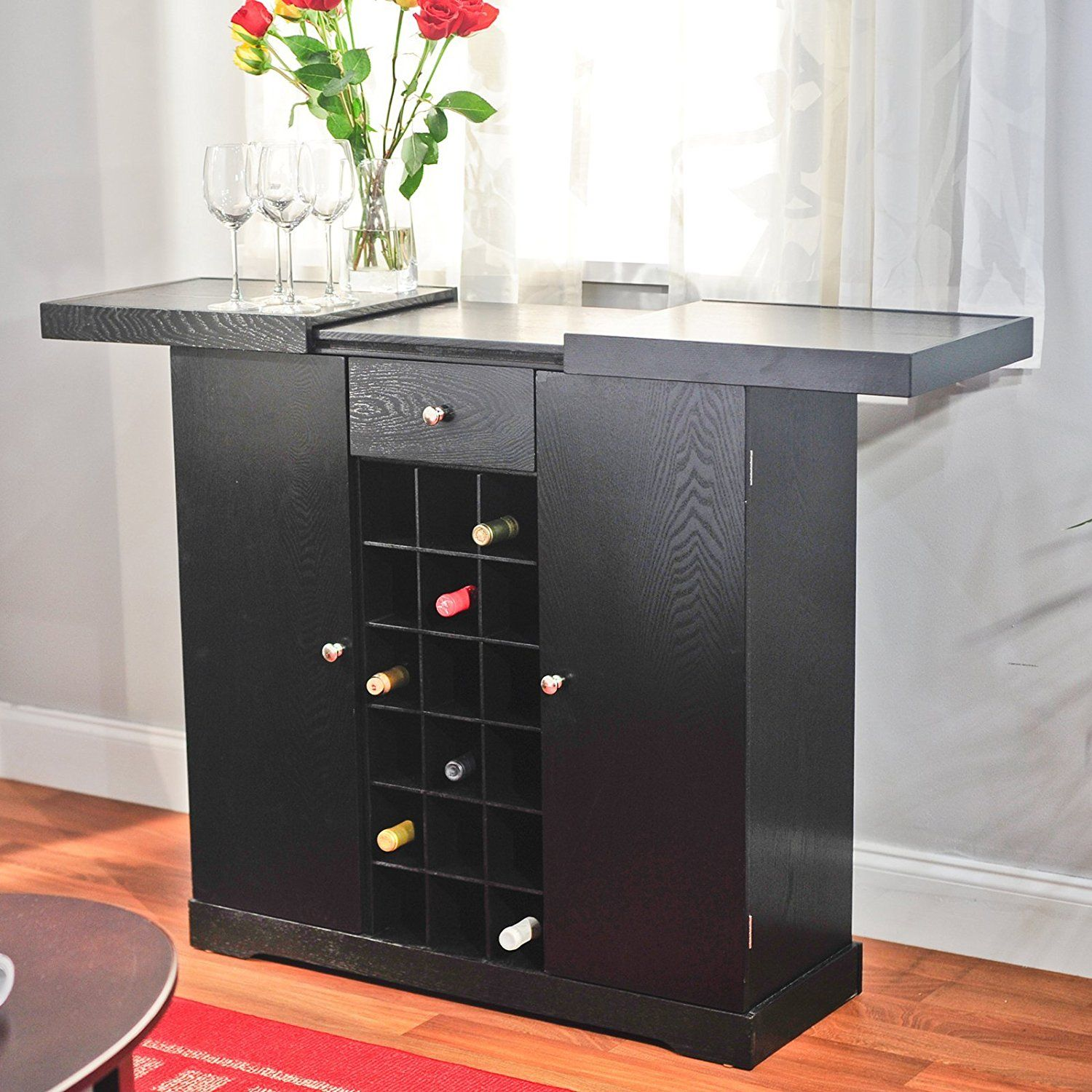 Amazon.com: TMS Wine Storage Cabinet, Espresso: Kitchen U0026 Dining