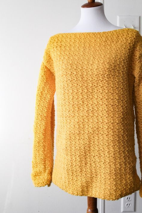 The Easiest Pullover Crochet Sweater Youll Ever Make Free Pattern