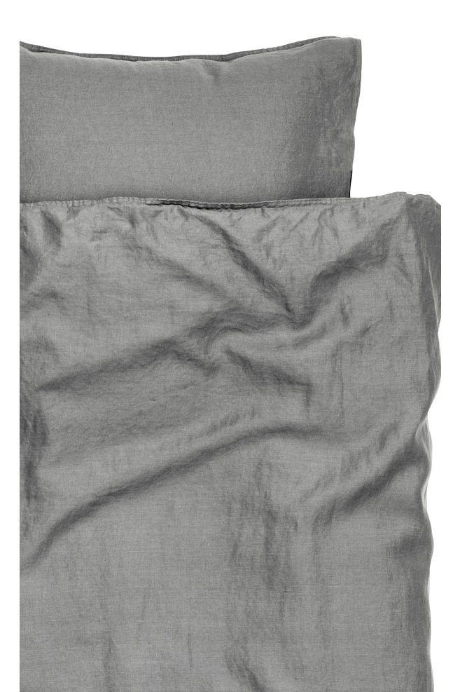Copripiumino Lino.Set Copripiumino Lino Lavato Washed Linen Duvet Cover Duvet