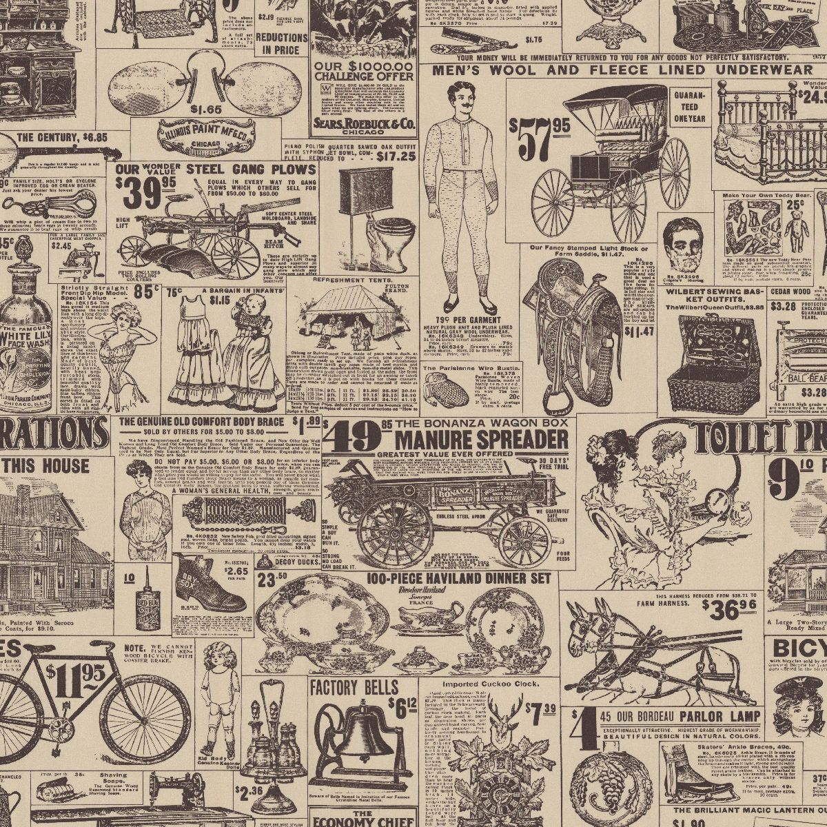 Old News | Custom vintage retro wallpaper | Bar Inspiration ...