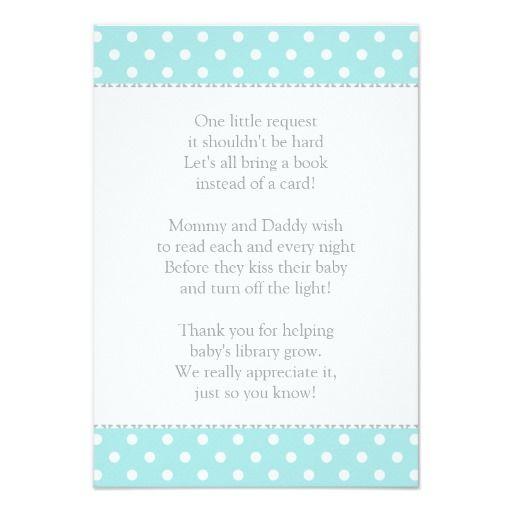 book instead of card   baby shower insert   shower inserts and, Baby shower invitations