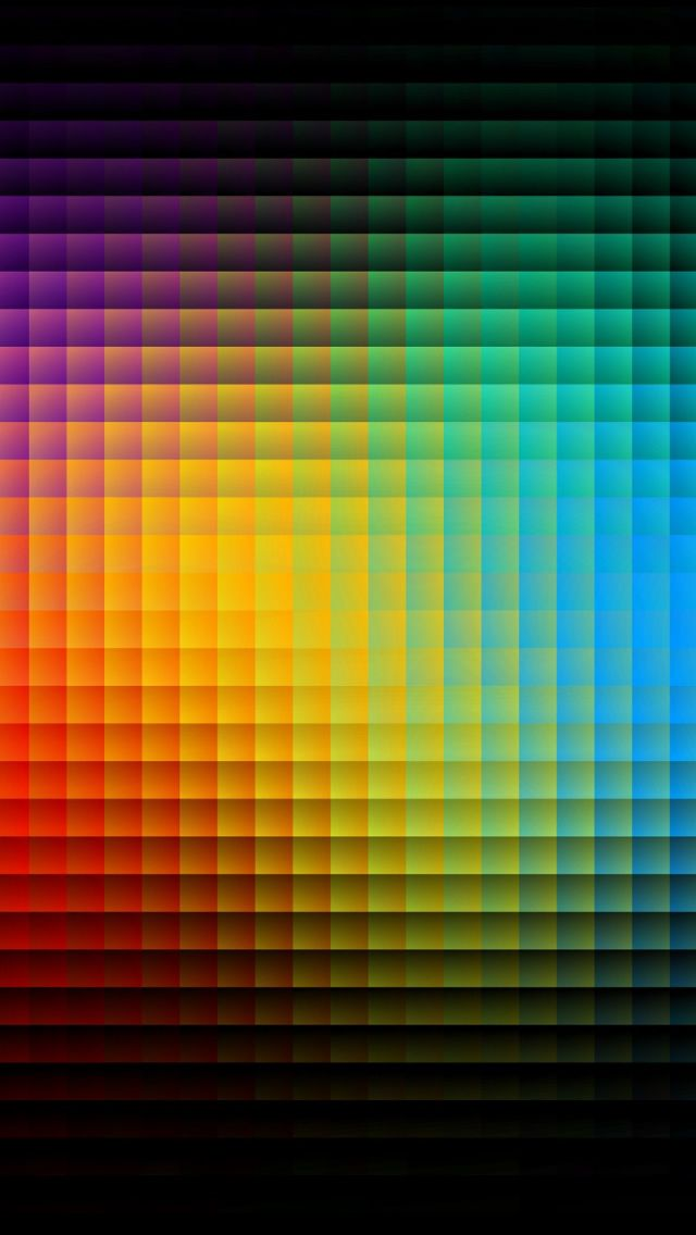 Colorful Pixels iPhone Wallpapers