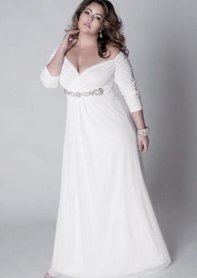 White prom dress plus size - PlusLook.eu | For wedding | Pinterest