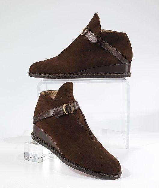 Shoes, Designer: Salvatore Ferragamo (Italian, 1898–1960) Date: 1947–50 Culture: Italian Medium: leather