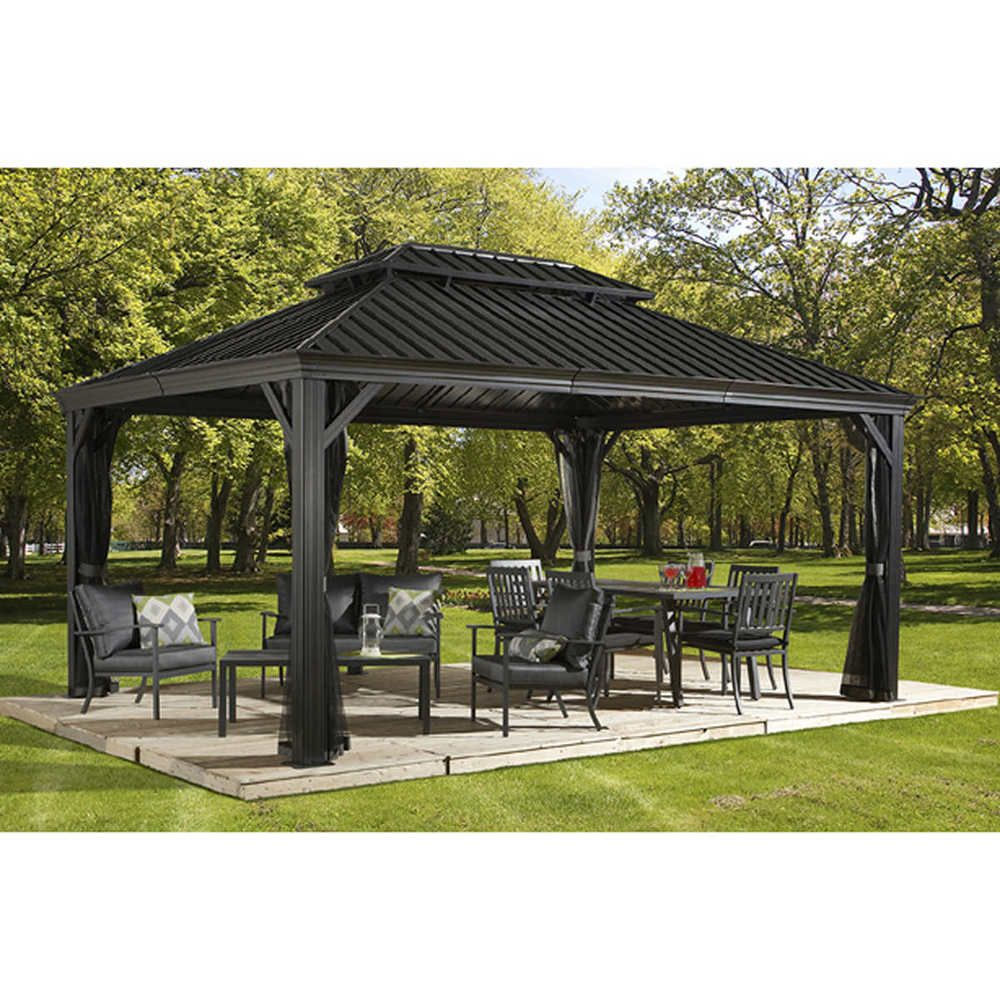 Improve Your Outdoor Living Space With The 4 Season Messina Sun Shelter It Is At The Forefront Of The New Wave Outdo Hardtop Gazebo Patio Gazebo Pergola Patio
