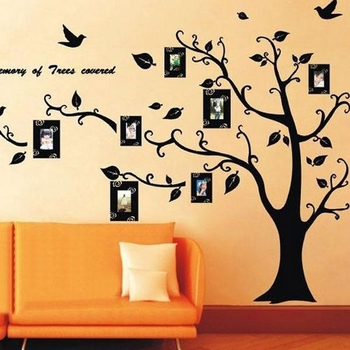 Family Tree Photo Wall Frame Removable Wallpaper. Made of nontoxic ...