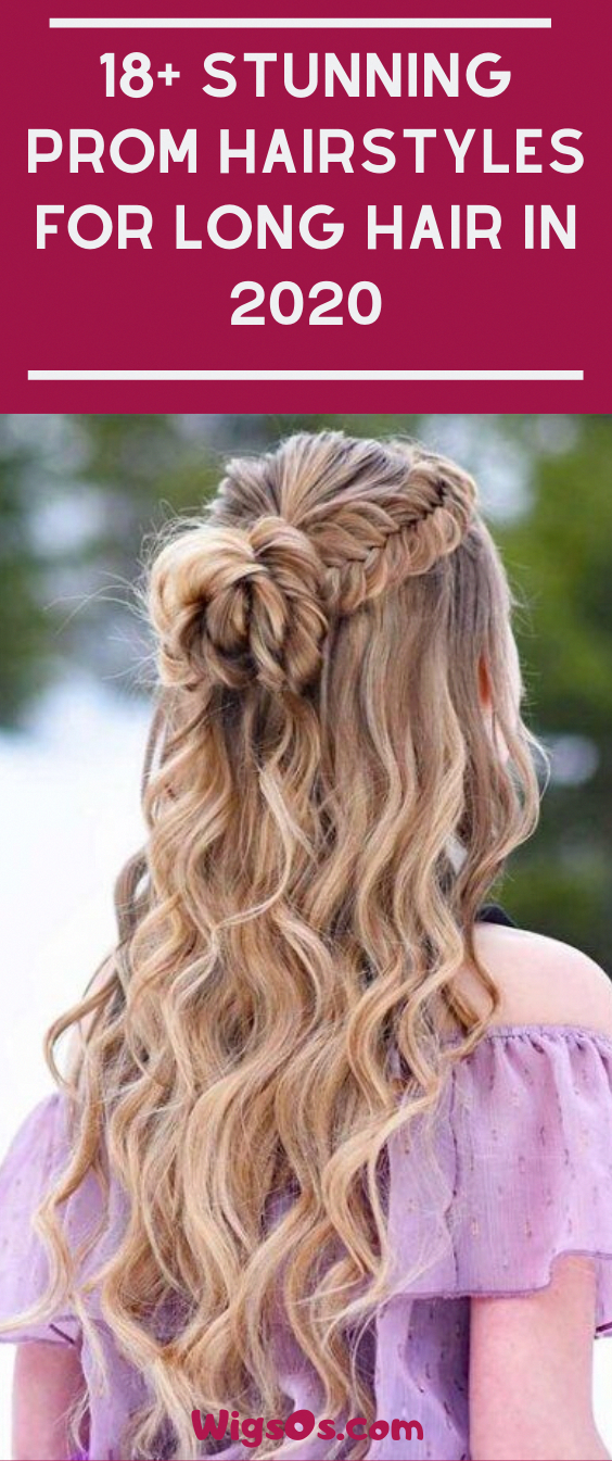 18+ Stunning Prom Hairstyles For Long Hair In 2020 #Braid #Hairstyles #Longhair #Promhairstyles