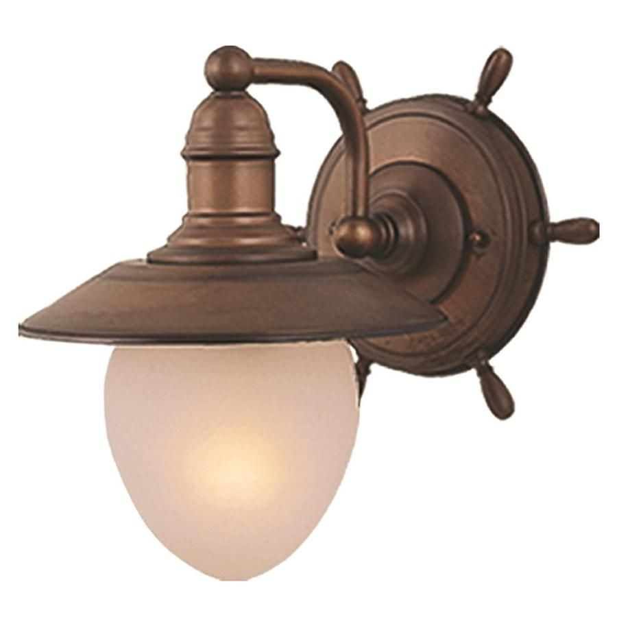 Cascadia Orleans 9 In W 1 Light Antique Red Copper Coastal Wall Sconce Lowes Com In 2020 Wall Sconce Lighting Wall Lights Wall Sconces