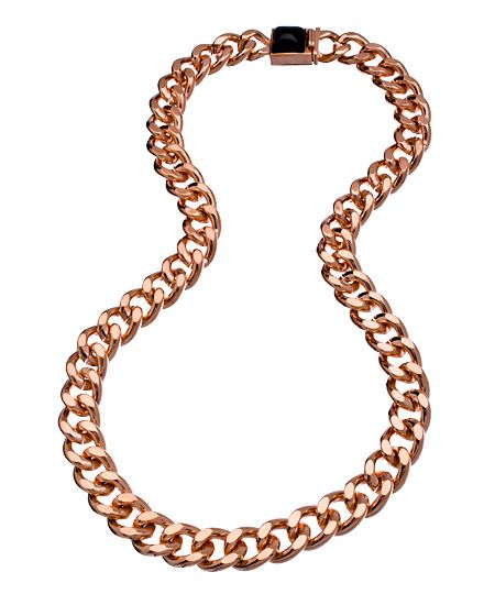 Jules Smith Rose Gold and Black Hard Rock Life Necklace