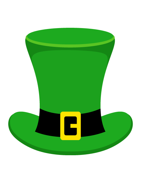 picture regarding Leprechaun Hat Printable called Pin by way of Muse Printables upon Photograph Booth Props at PropsToPrint