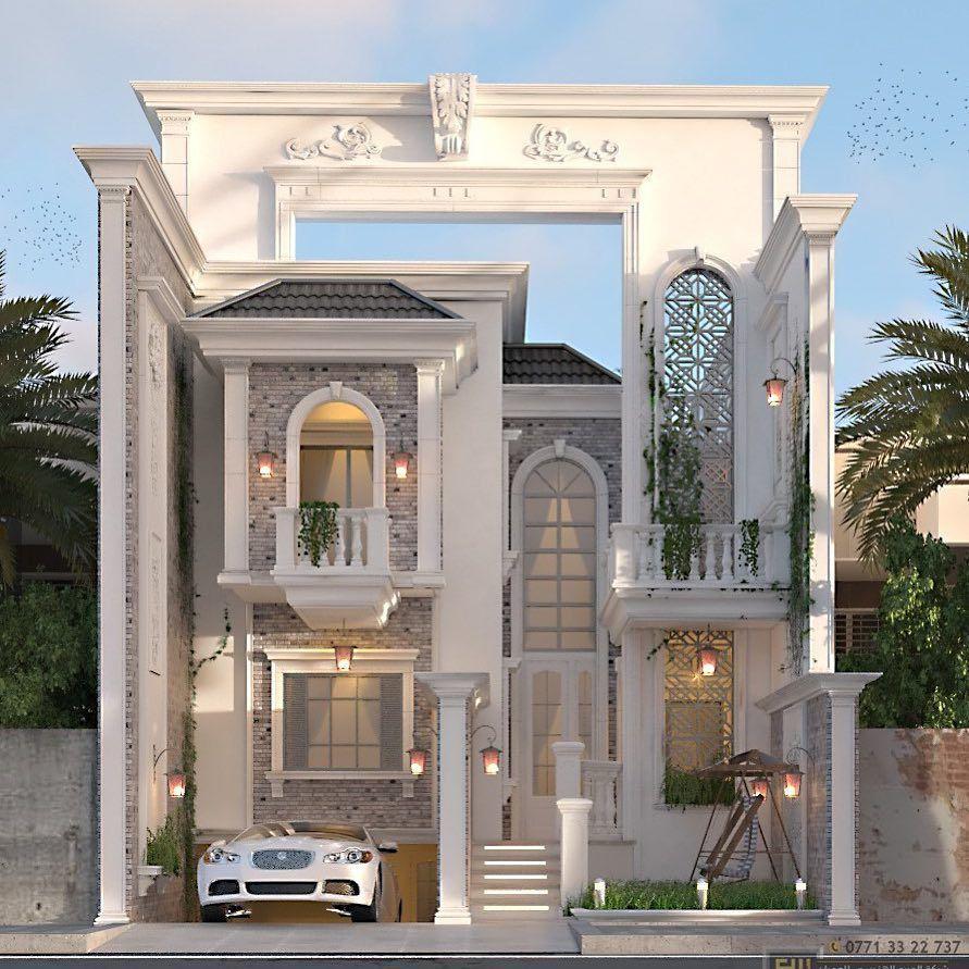 شركة المربع الهندسي للعمران On Instagram واجهة ٩ متر في زيونة House Styles Mansions Design