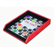 Desk Supplies>Desk Set / Conference Room Set>Holders> Files & Letter holders: Red Contemporary Leather Letter Tray