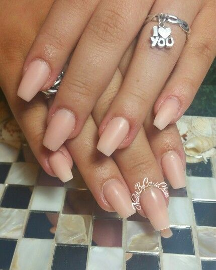 Short Matte Soft Pink Coffin Nails Follow On Instagram Naildbycassiechaos And Fb Cassie Rey Coffin Shape Nails Fall Acrylic Nails Formal Nails