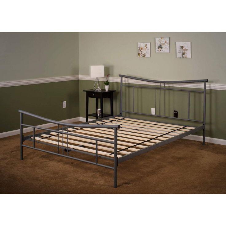 Weiss Plattform Bett Rahmen Billig Metall Bett Frames Kingsize Bett