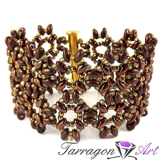 Bead Bracelets – Beaded Elegance - Golden Bronze – a unique product by TarragonArt on DaWanda