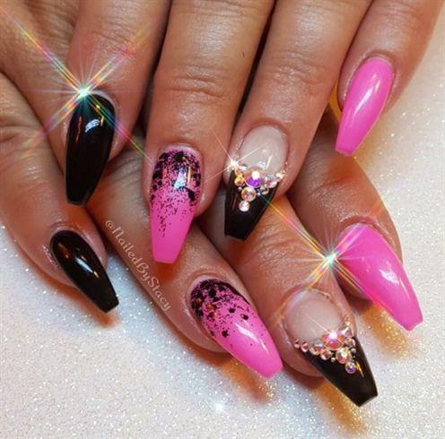 birthday nailsnailedbystacy  bling nails birthday