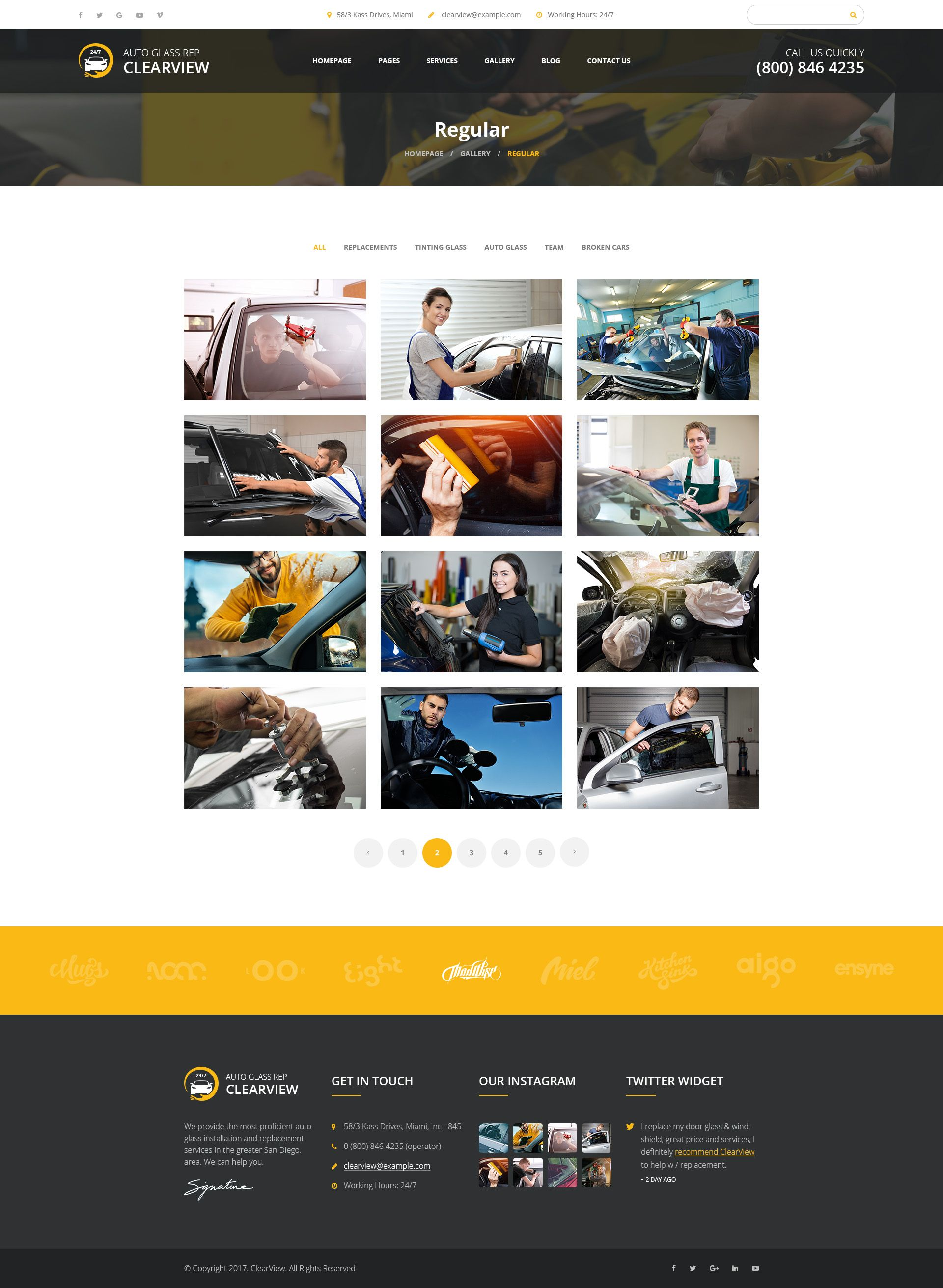 ClearView - Auto Glass Repair, Replacement and Window Tinting PSD Template #Glass, #Repair, #ClearView, #Auto #glassrepair