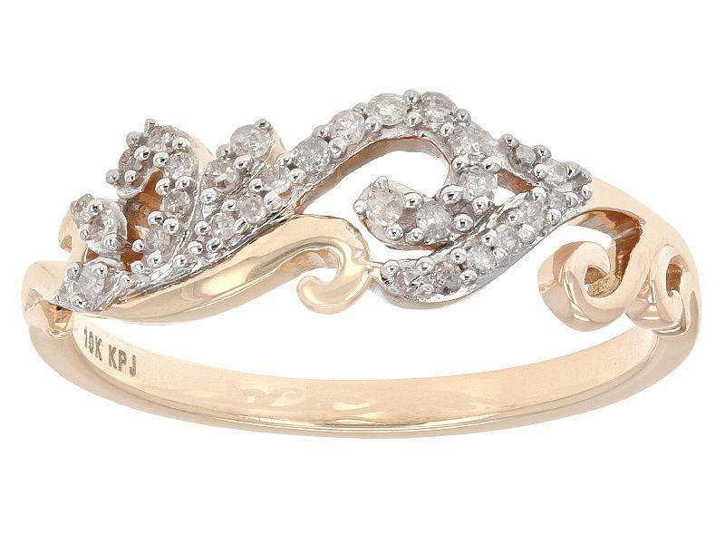 18ctw Round White Diamond 10k Rose Gold Filigree Ring Jewelry Filigree Ring Gold Wedding Rings Engagement