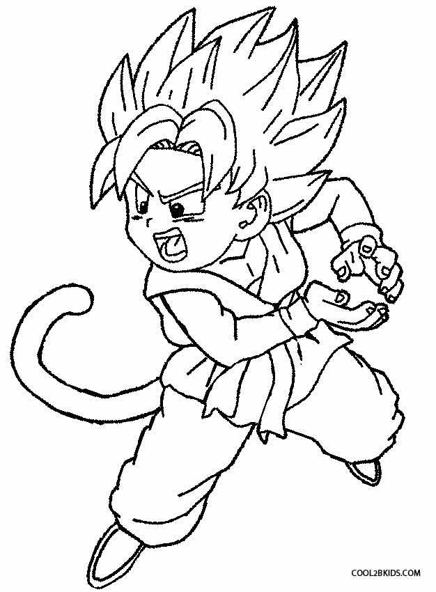 printable goku coloring pages for kids cool2bkids - Super Saiyan Goku Coloring Pages