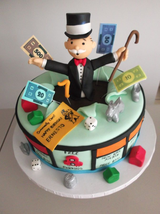 Monopoly cake — Someone needs to make me one of these!!!