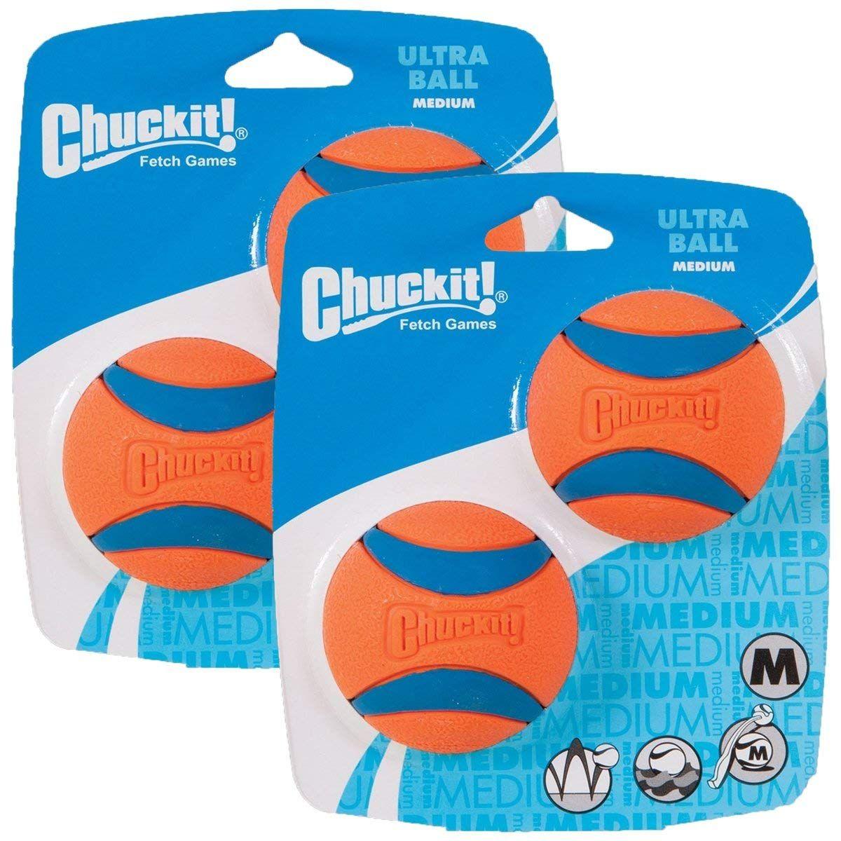 Canine Hardware Chuckit Ultra Ball Medium 2 5 Inch 4 Pack