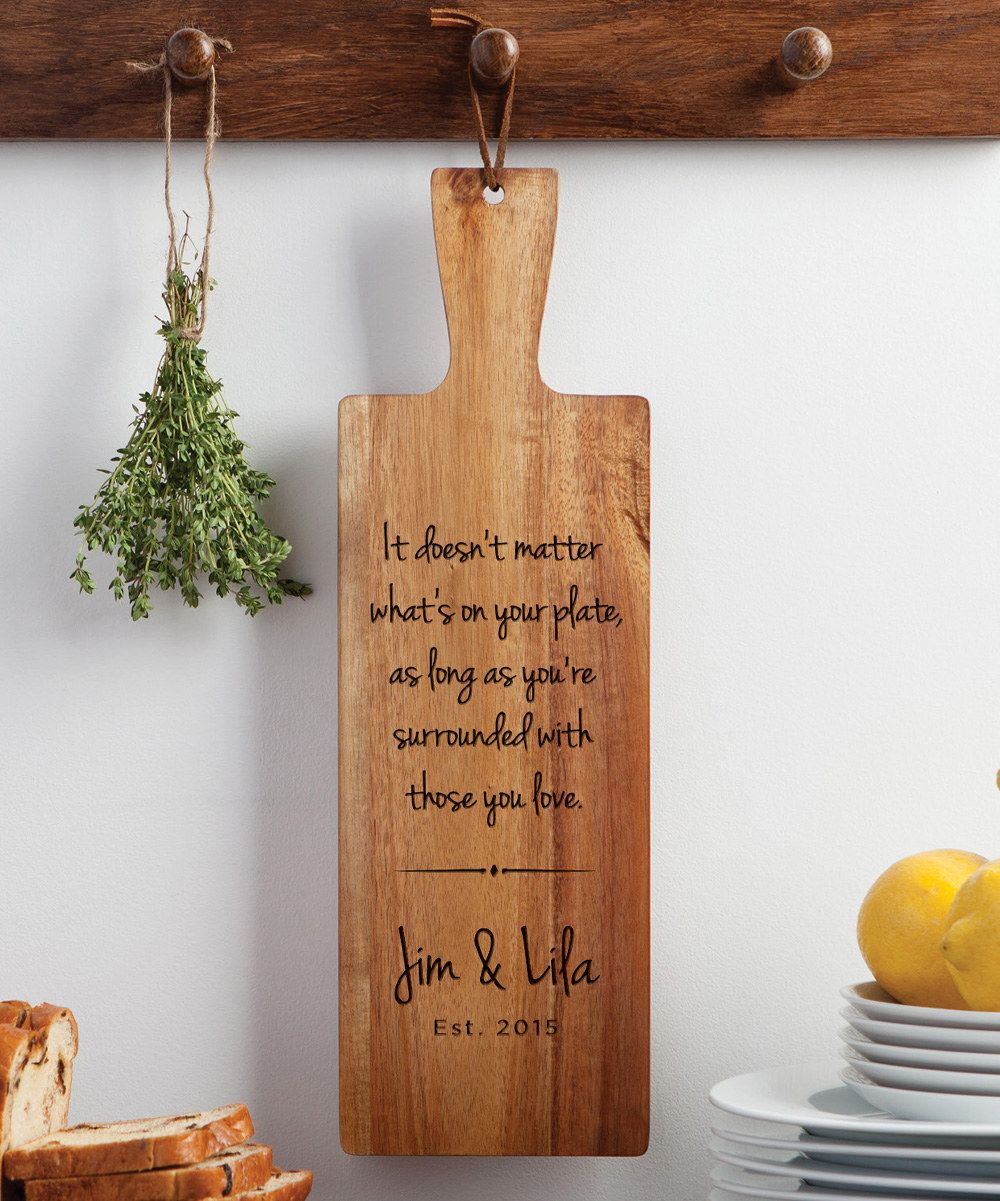 Look at this 'Surrounded With Those You Love' Personalized Bread Board on #zulily today!