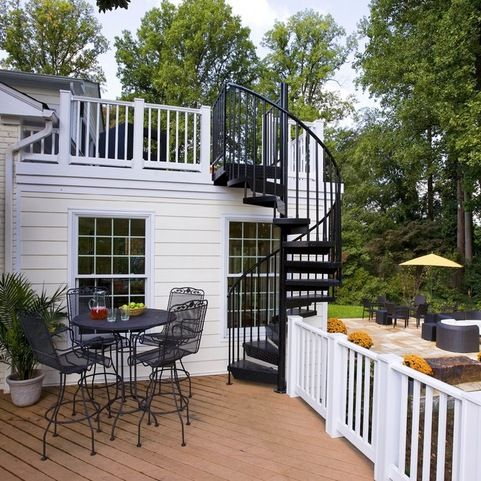 Exterior addition - traditional - Deck - Dc Metro - Smiley ...