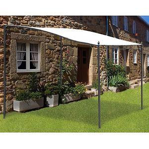 3x3m Deluxe Canopy Metal Wall Gazebo Awning Garden